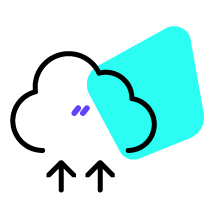 Illustration data being uploaded into cloud