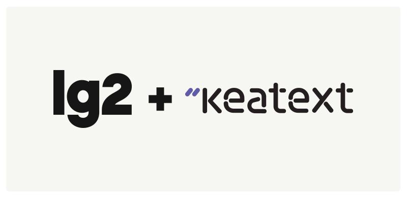 LG2 + Keatext logos